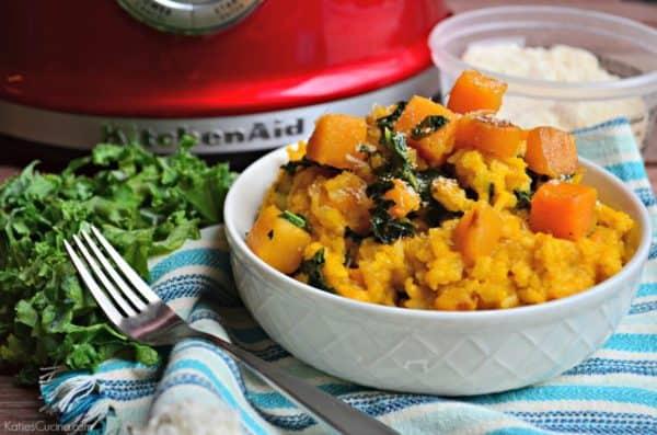 Butternut Squash and Kale Risotto Recipe! Perfect dinner idea.