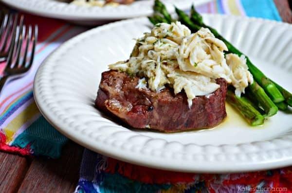 Grilled Beef Tenderloin with Lemon Butter Lump Crabmeat recipe