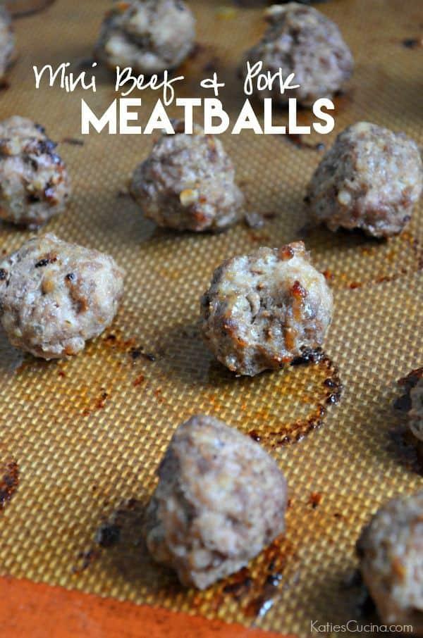 Mini Beef and Pork Meatballs Recipe