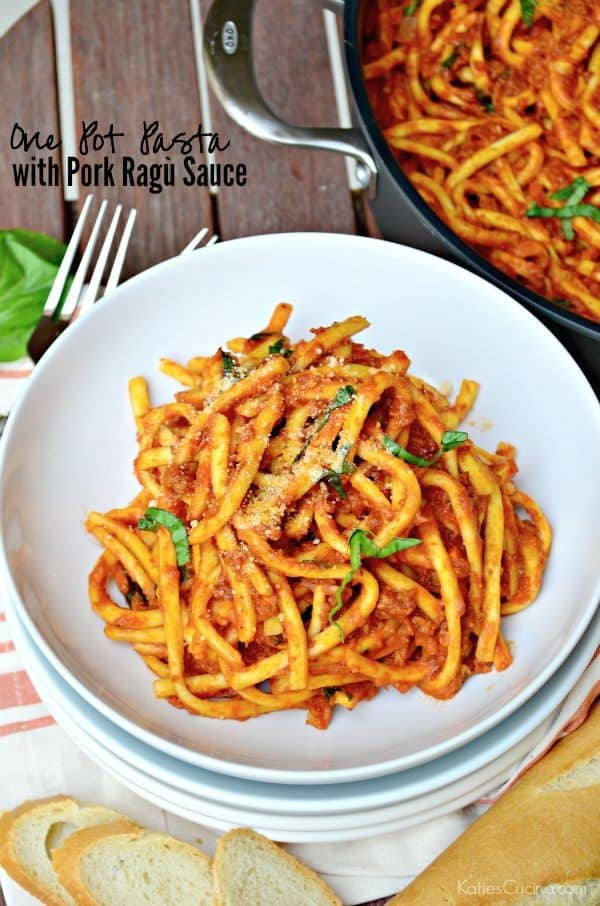 One Pot Pasta with Pork Ragù Sauce Recipe #GourmetGetaway by @WorldMarket