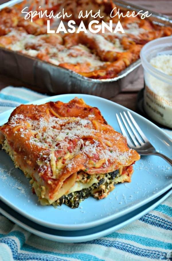 Spinach and Cheese Lasagna