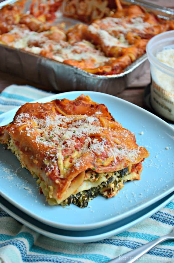 the best Spinach and Cheese Lasagna