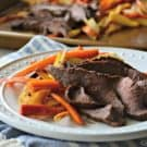 One-Pan Dinner: Roasted Root Vegetables with London Broil