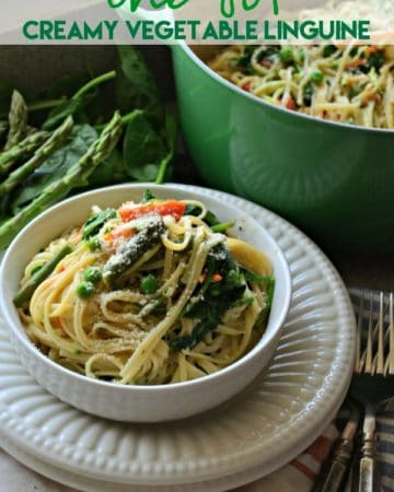 One Pot Creamy Vegetable Linguine