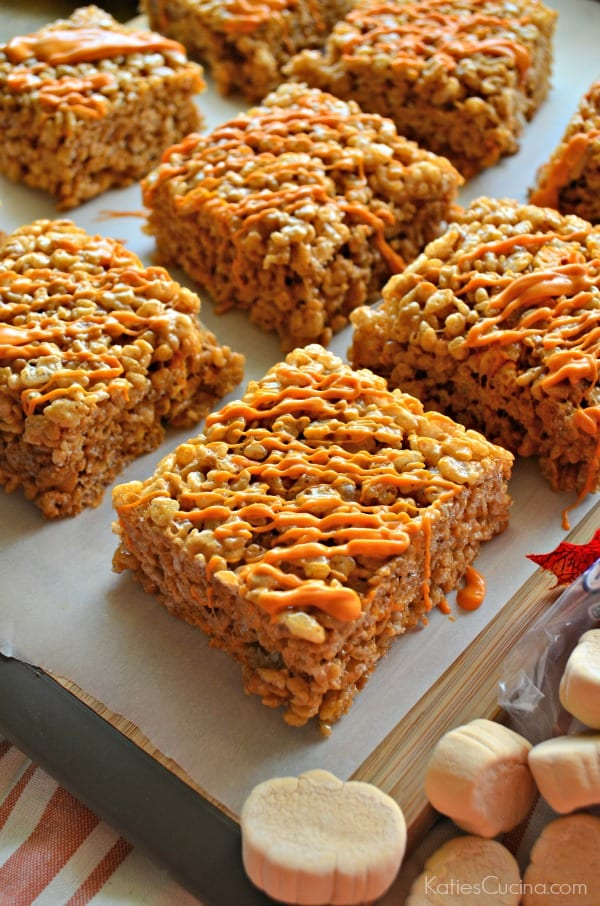 Pumpkin Spice Krispie Treats