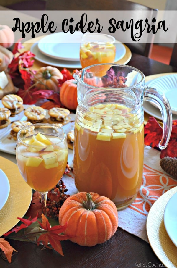 Make this Apple Cider Sangria Recipe in just 5 minutes!