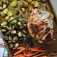 One Pan Honey Roasted Turkey and Vegetables