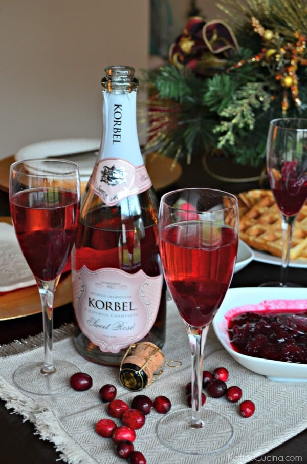 Cranberry Champagne Spritzer