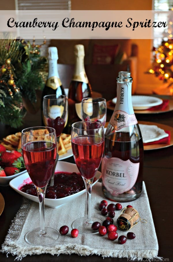 Cranberry Champagne Spritzer 1