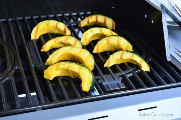 Grilled Honey Acorn Squash