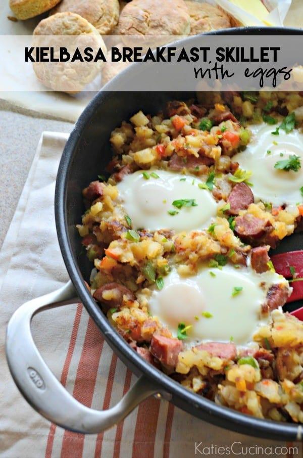 Kielbasa Breakfast Skillet with Eggs