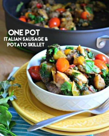 One Pot Italian Sausage and Potato Skillet