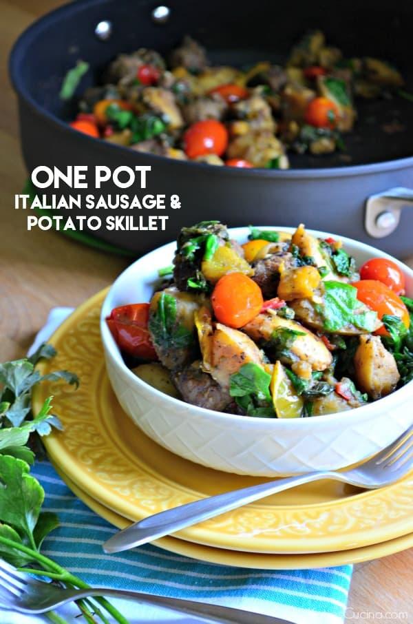 One Pot Italian Sausage and Potato Skillet