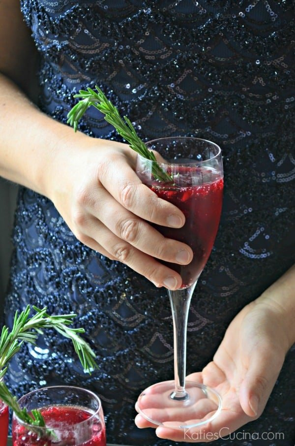 Pomegranate Rosemary Sparkling Cocktail