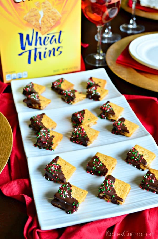 Wheat Thins PB Chocolate Bites Recipe #ad #NabiscoPartyPlanner #BringHomeTheHolidays