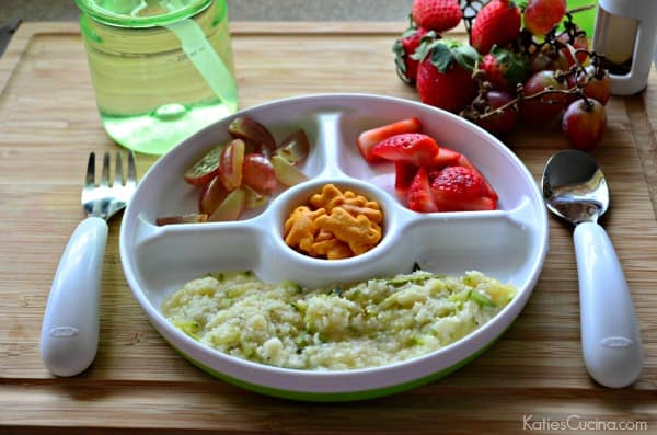 Zucchini and Stars Soup Recipe --toddler friendly food using @OXOtot products!