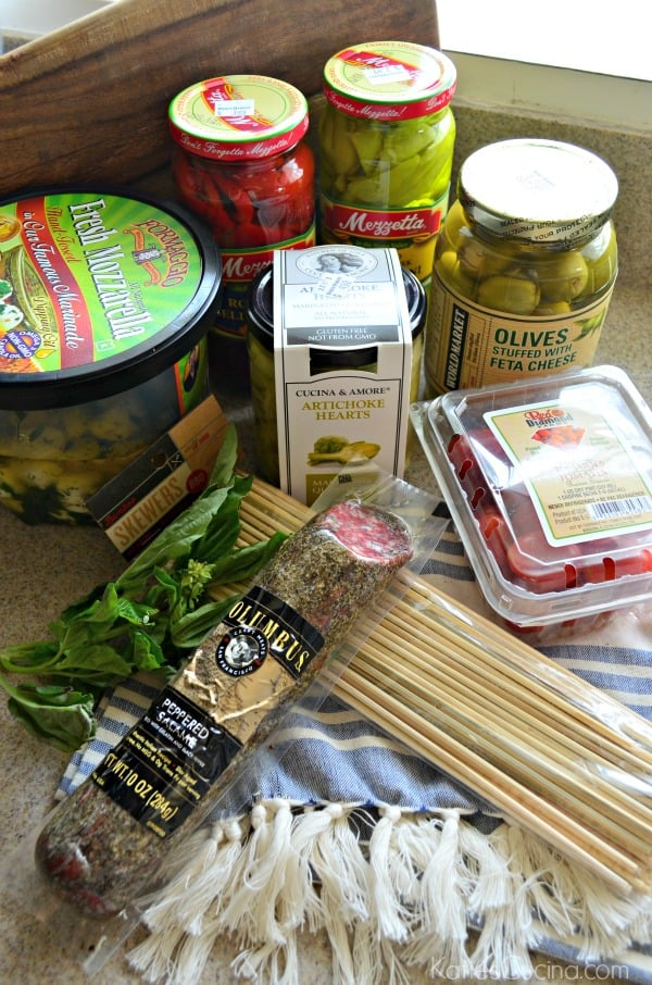 Antipasto Skewers Ingredients