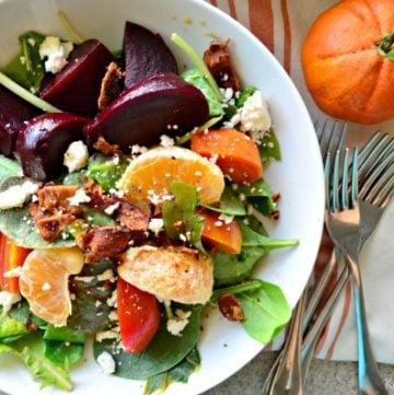 Beet, Bacon, and Citrus Salad with Garlic-Citrus Vinaigrette
