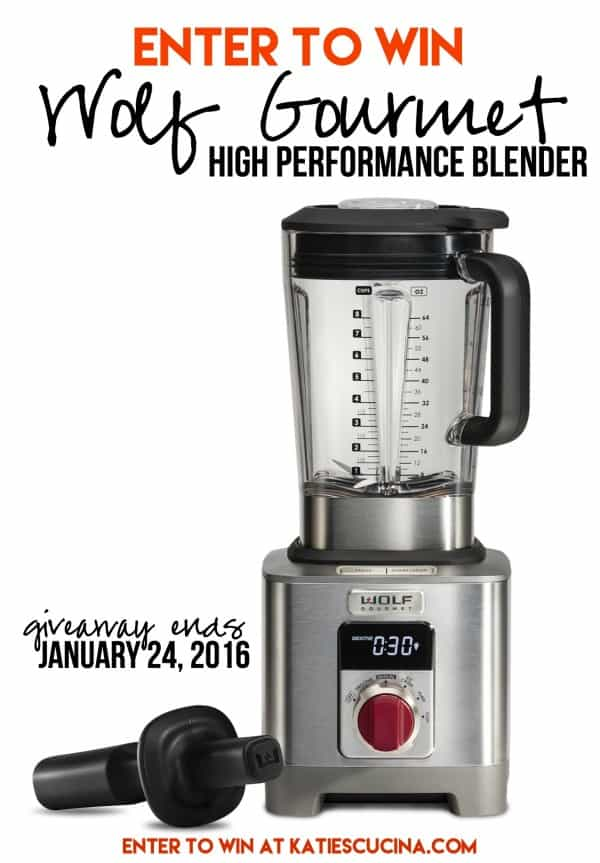 Enter to win a @WolfGourmet High Performance Blender - giveaway ends 1/24/16