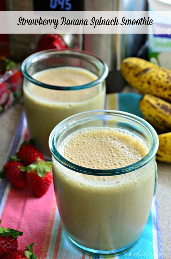 Strawberry Banana Spinach Smoothie Recipe #WolfGourmet