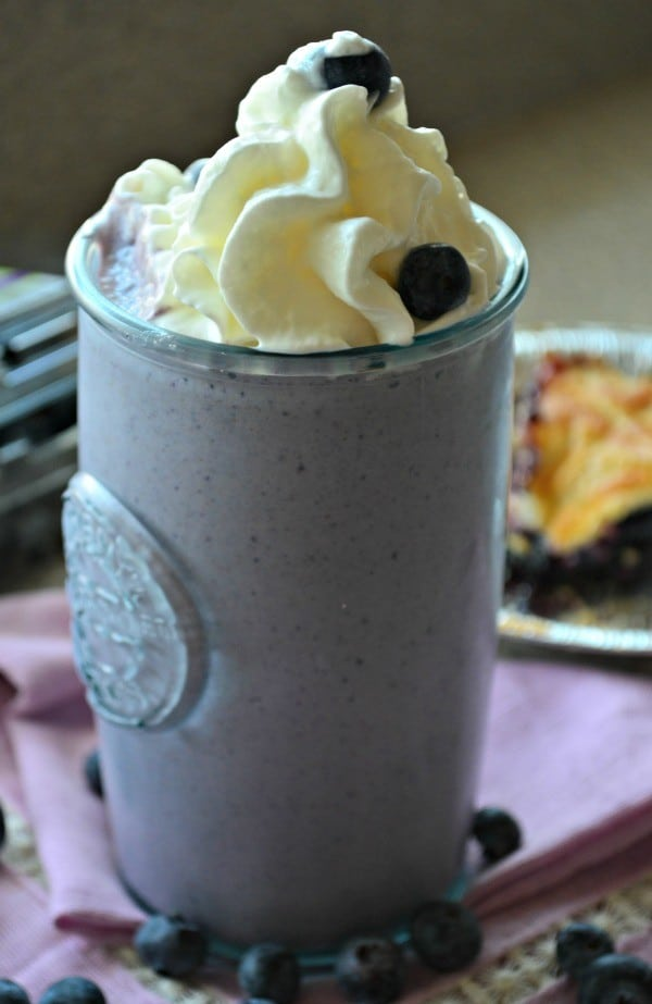 Blueberry Pie Milkshake