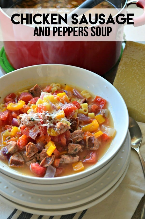 Chicken Sausage and Peppers Soup