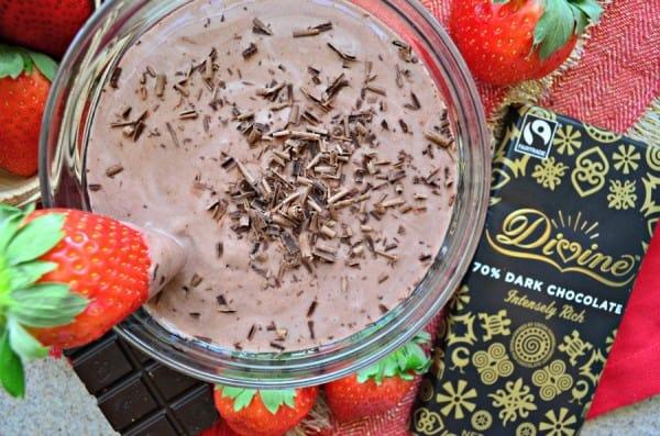 Chocolate Strawberry Yogurt Dip