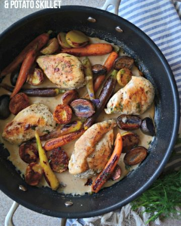 One Pot Chicken Carrot & Potato Skillet