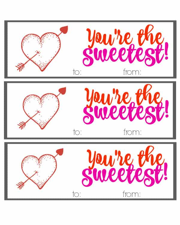 You're The Sweetest Free Valentine Printable