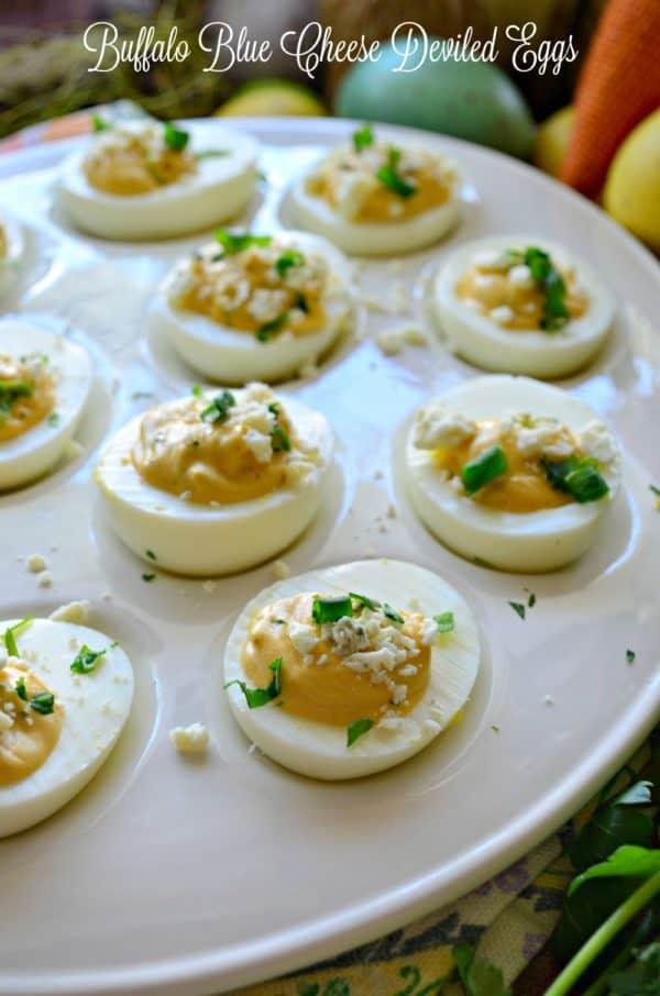 Buffalo Blue Cheese Deviled Eggs