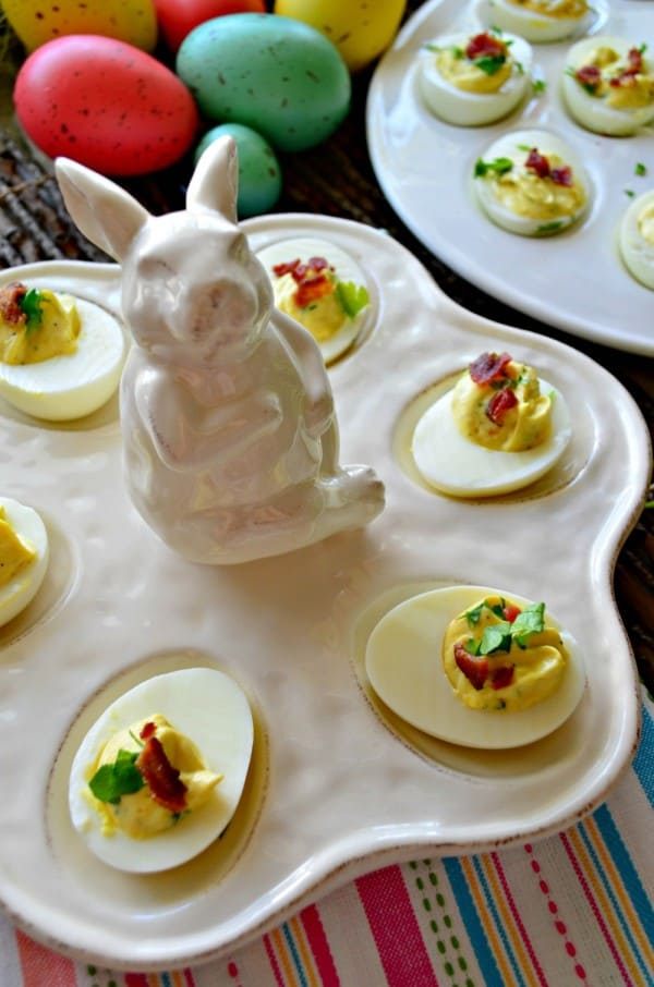Horseradish & Bacon Deviled Eggs