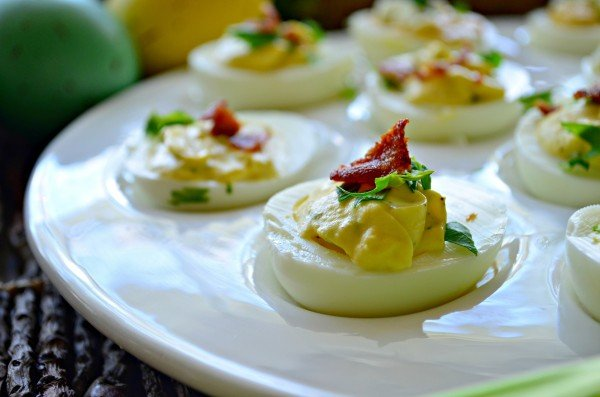 Horseradish & Bacon Deviled Eggs
