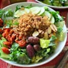 Copycat Panera Salad -- Mediterranean Quinoa Salad with Sliced Almonds Recipe