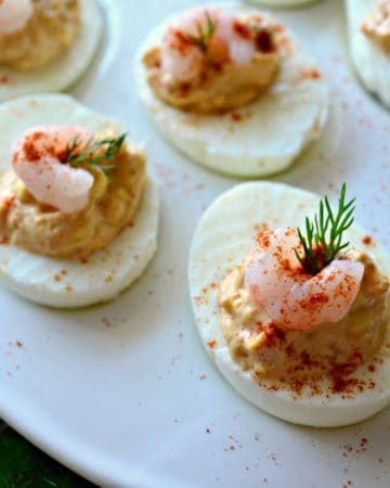 Shrimp Creole Deviled Eggs