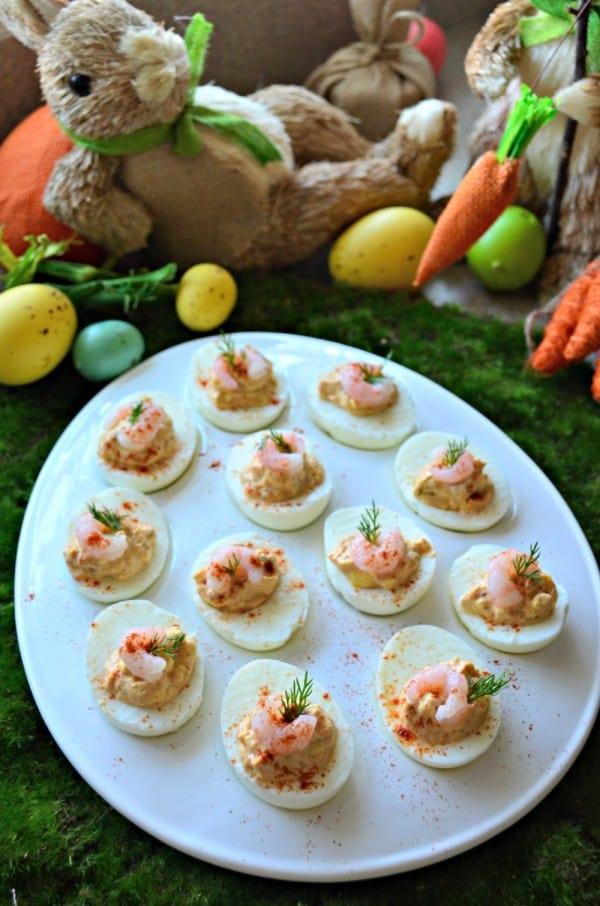 Shrimp Creole Deviled Eggs
