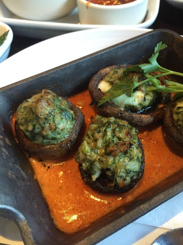 Three-Cheese & Sausage Stuffed Mushrooms