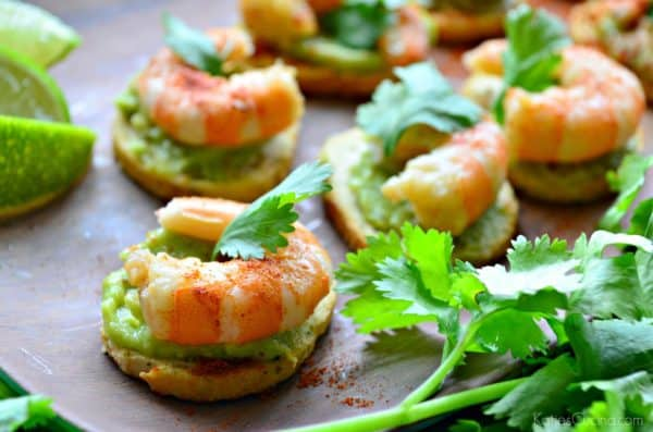 Guacamole Shrimp Bites