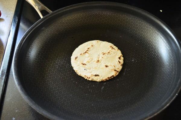 Homemade Corn Tortillas - Step 6 fry the tortilla