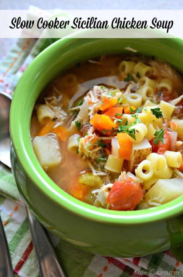 Slow Cooker Sicilian Chicken Soup