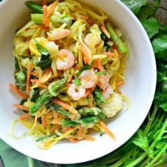 Thai Chili Shrimp Zoodles