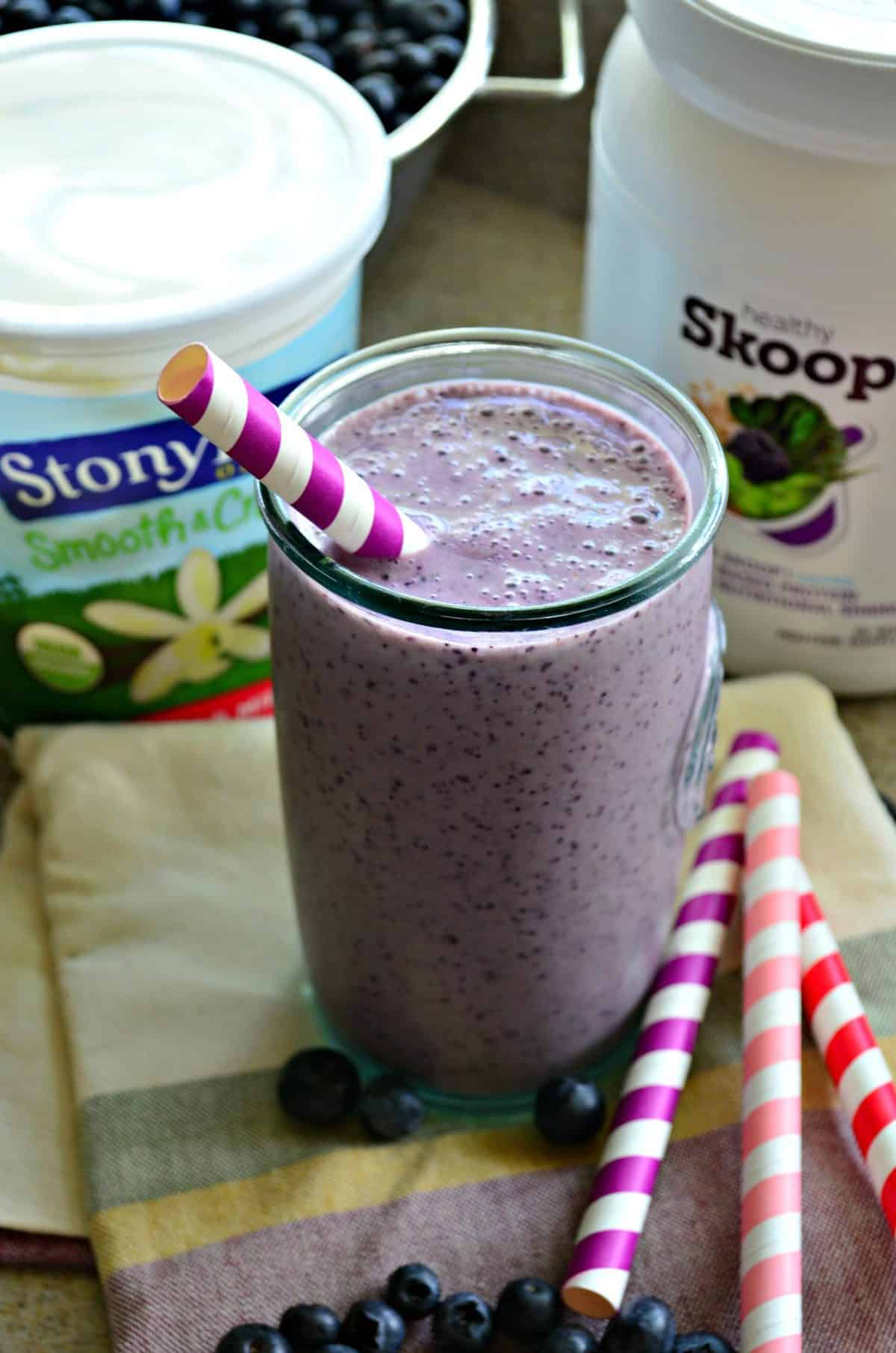 Blueberry Banana Protein Smoothie