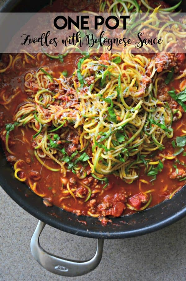 One Pot Zoodles with Bolognese Sauce