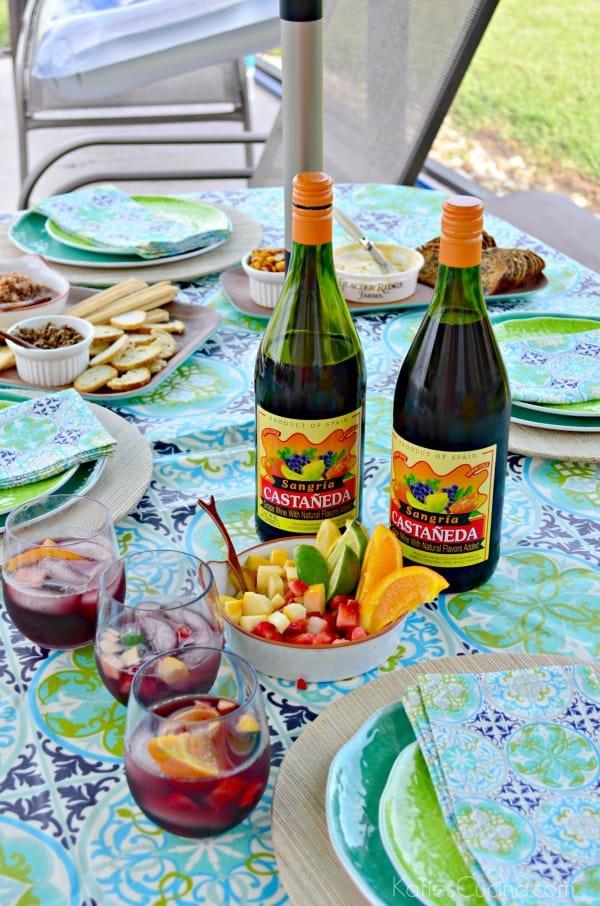 Paella Party Sangria Bar #CelebrateOutdoors