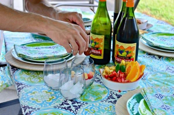 Paella Party + Sangria Prep #CelebrateOutdoors