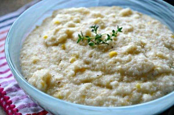 Creamy Cheesy Corn Grits