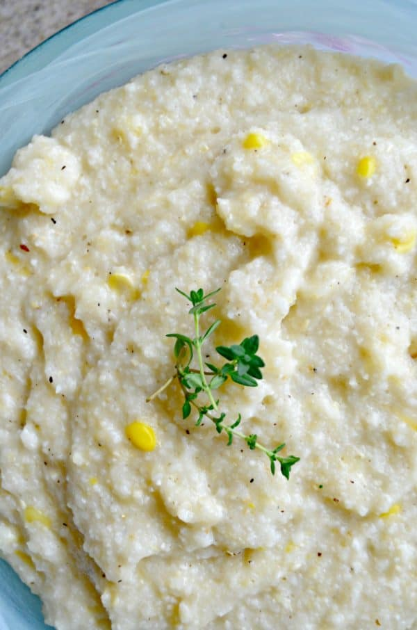 Creamy Cheesy Corn Grits