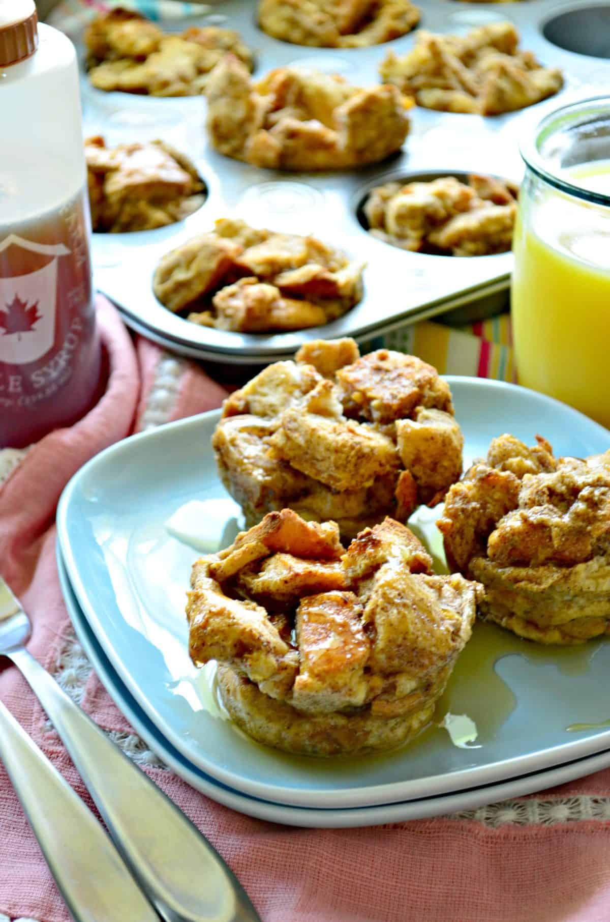 French Toast Muffins - Katie's Cucina