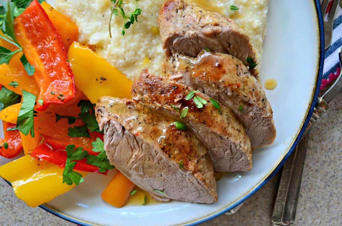 Pan Roasted Pork Tenderloin with Peppers