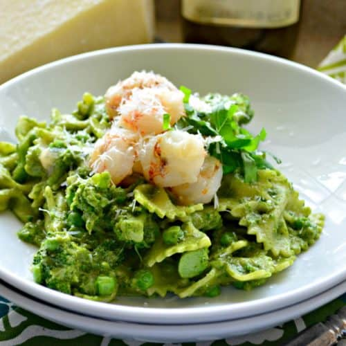 Pesto Pasta with Rock Shrimp