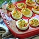 Greek Yogurt Deviled Eggs #StonyfieldBlogger